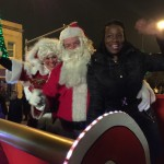 Mrs. Claus, Mr. Claus and City Clerk Nyota Figgs