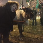 Mayor Michelle w/ the reindeer!