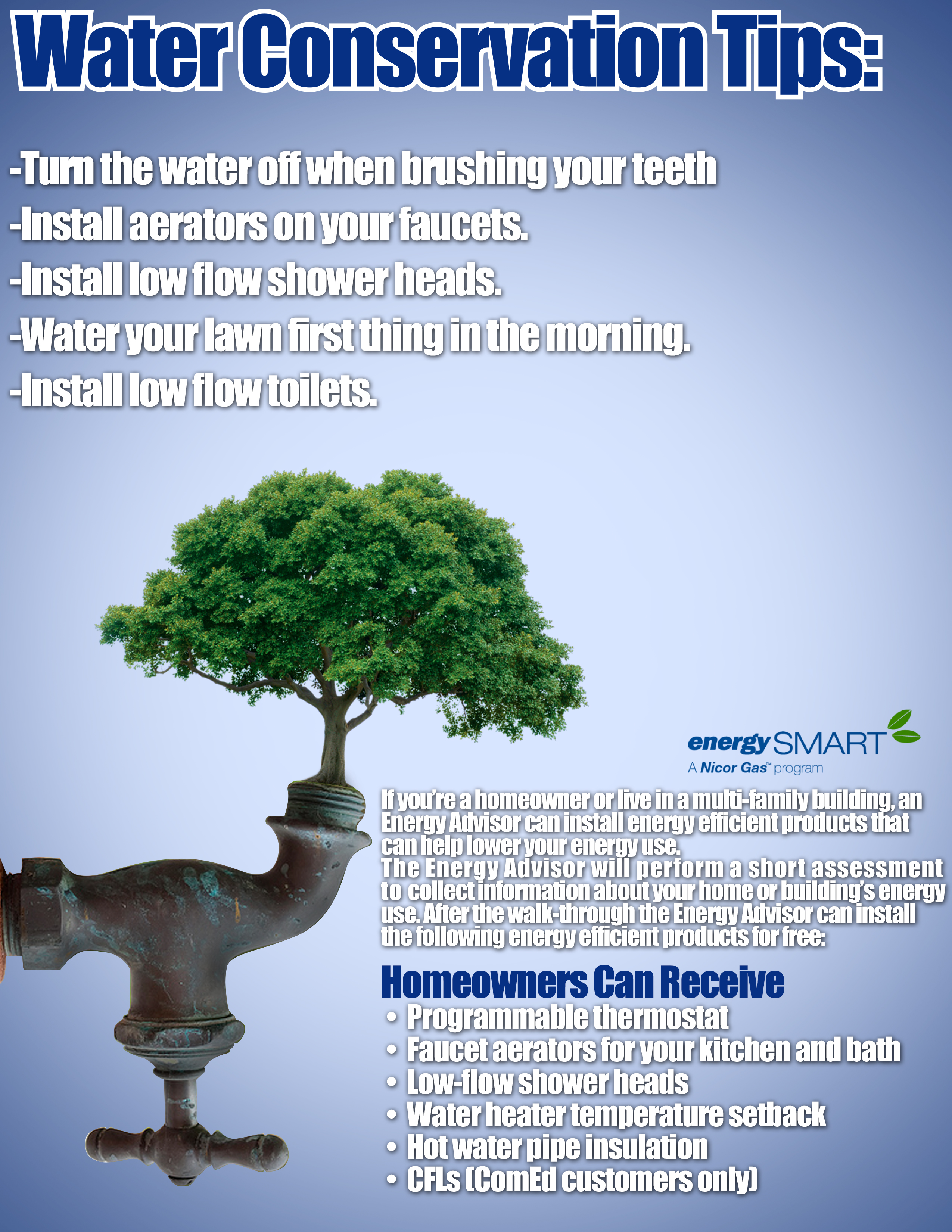 water consevation Why conserve water in addition to saving money on your utility bill, water conservation helps prevent water pollution in nearby lakes, rivers, and local.