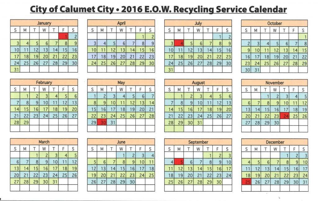 Calendar Republic Services : Calumet city