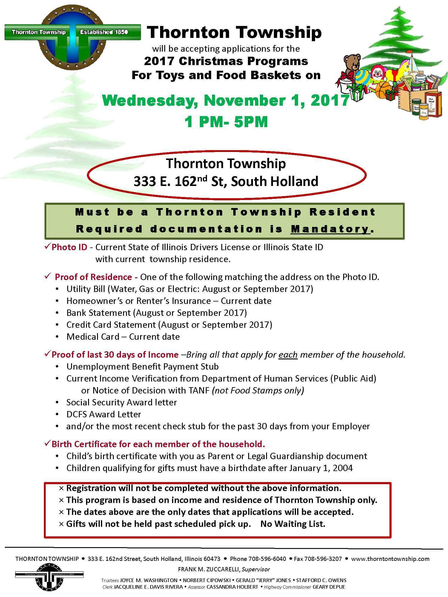 2017 Thornton Township Christmas Program Calumet City